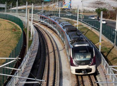 Metrô começa operação sem passageiros entre estações Mussurunga e Aeroporto